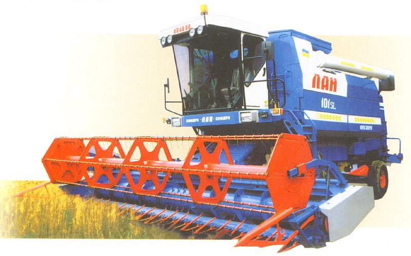 Зернозбиральний комбайн лан sl101